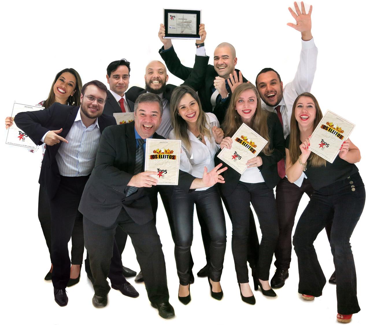 """Equipe de Gestão & Estratégia da Leme Consultoria, indicada ao Top5 na categoria """"Consultoria para RH"""""""