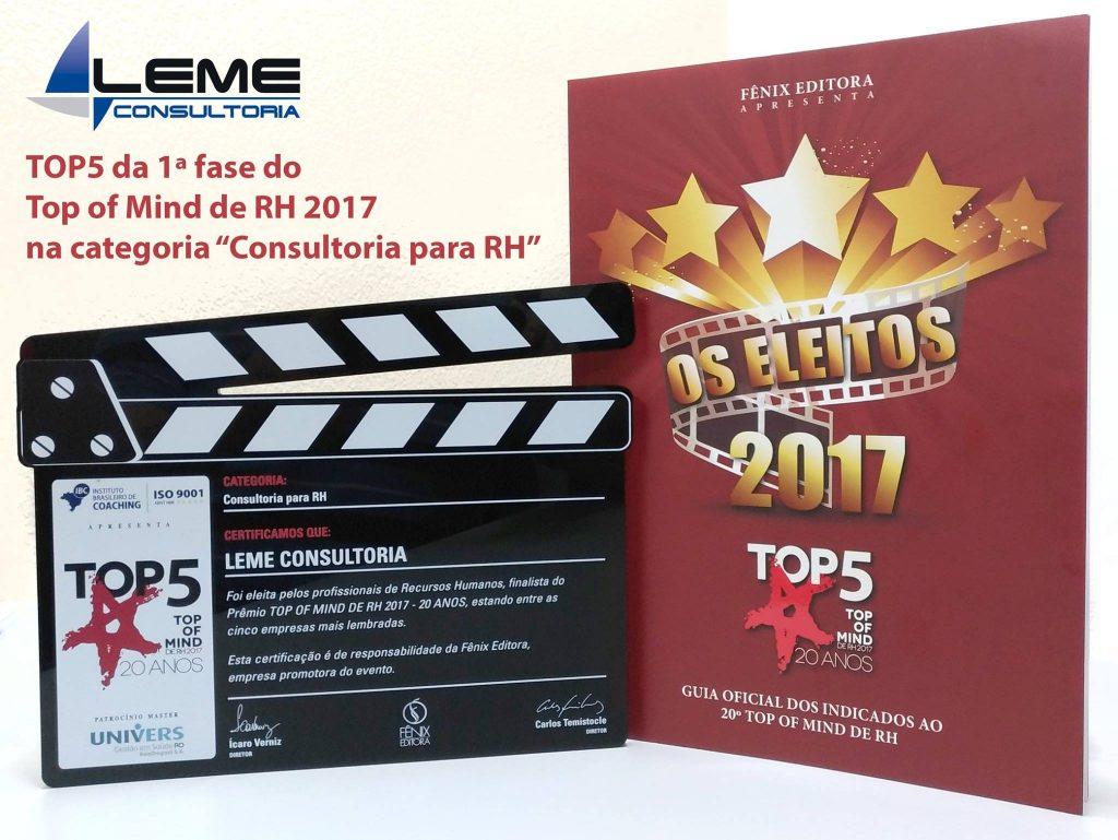 Top5 - placa 2017