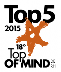 Top5 do Top of Mind 2015 - categoria Treinamento e Desenvolvimento