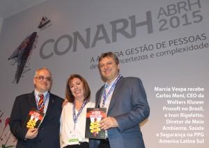 Marcia Vespa com Ivan Rigoletto e Carlos Meni