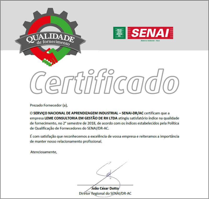 certificado fieac senai